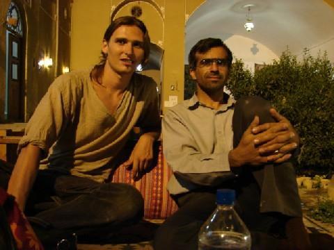 Martin and Abdulkarim in Silk road hotel